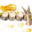 Stock Photo: Appetizer of herring