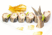 Appetizer of herring — Stock Photo