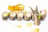 Appetizer of herring — Stock Photo