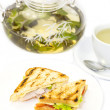 Sandwich with tea — Stock Photo #35943985