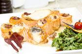 Baked salmon rolls — Stock Photo