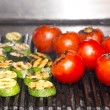 Cooking vegetables on the grill in the kitchen — Stock Photo