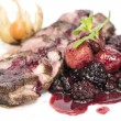 Stock Photo: Peking duck with berry sauce