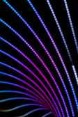 Neon background of lines and bokeh — Stock Photo
