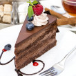 Stock Photo: Dessert, a piece of cake on the table
