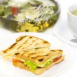 Sandwich with tea — Stock Photo #36975967