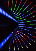 неоновые линии и боке — Стоковое фото