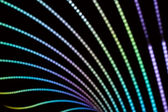 Neon lines and bokeh — Stock Photo