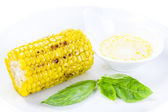 Grilled corn with butter — Stock Photo