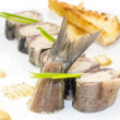 Stock Photo: Appetizer of herring stuffing