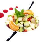 Fruit salad with ice cream — Stock Photo