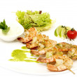 Skewers of shrimp — Stock Photo
