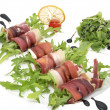 Meat rolls with arugula — Stock Photo #37938765