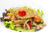 Warm salad of beef and vegetables — Stockfoto