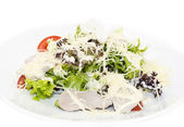 Salad with cheese, meat and vegetables — Stock Photo