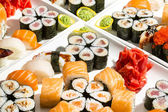 Delicious seafood sushi — Stock Photo