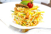 Cabbage salad and vegetables — Stock Photo