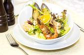 シーフード サラダ — ストック写真