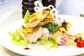 Salad with chicken and potatoes — Stock Photo