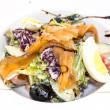 Seafood salad vegetables and eggs — Stock Photo #38571797
