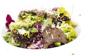 Warm salad of beef and vegetables — Stock Photo