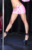 Body of the girl dancing striptease — Stockfoto