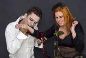 čarodějnice a upír — Stock fotografie