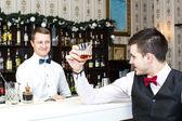 Man drinking alcohol — Stock Photo