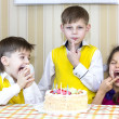 Have fun eating birthday cake — Stock Photo #40221551