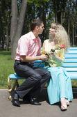 Loving girl and guy — Stock Photo