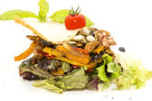 Salad with vegetables and meat — Stock Photo