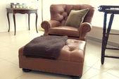 En stor lounge stol — Stockfoto