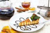 Piece of cheese cake — Stock Photo