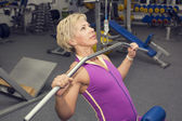 Adult female bodybuilding competitions — Stock Photo