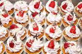 Canapés de sobremesa — Fotografia Stock