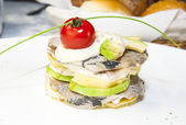 Herring salad with vegetables — Stock Photo