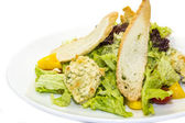 Salad vegetables and goat cheese — Stock fotografie