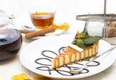 Piece of cheese cake — Stock Photo