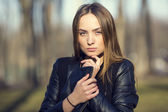Girl in the park — Stockfoto