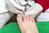 Process of pedicure — ストック写真