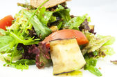 Salad vegetables and goat cheese — Stok fotoğraf