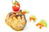 Gebraden filet van gegrilde vis — Stockfoto