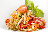 овощной салат на — Стоковое фото