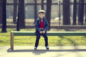 Boy on a walk in the park — Stock Photo