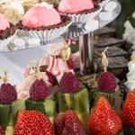 Cream dessert and fruit — Stock Photo #44764195