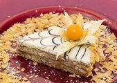 Piece of cream cake — Stock Photo