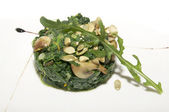 Fried spinach — Stock Photo
