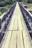 Houten brug — Stockfoto