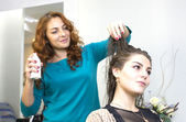 Woman in a beauty salon — Stock Photo