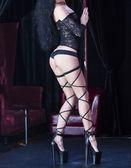 Girl dancing striptease — Stock Photo